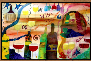 Wine time wine bar floor mat - Maremade Designs