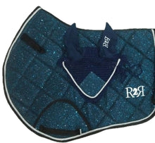 Load image into Gallery viewer, Saddle Pad BLUE GLITTER