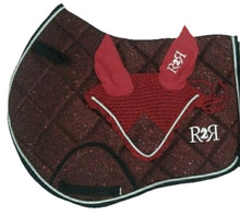 Load image into Gallery viewer, Saddle Pad BURGUNDY GLITTER