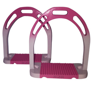 CLEARANCE PRICE! Ombre Stirrups Pink & White
