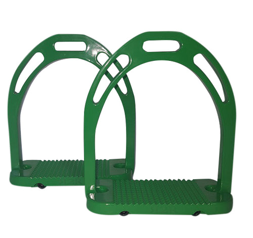 CLEARANCE PRICE! Wide Base Stirrups Green
