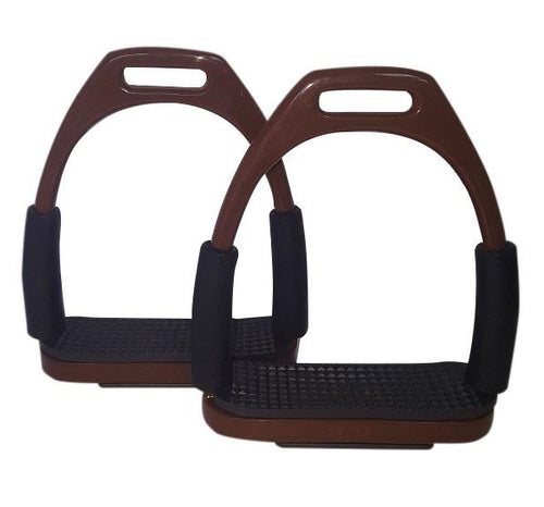 CLEARANCE PRICE! Flexi Stirrups Brown