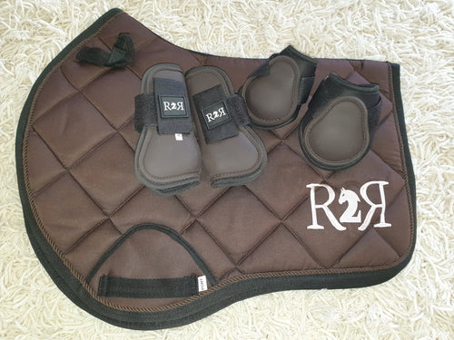 CLEARANCE SALE! Saddle Pad Set with Boots BROWN Size PONY