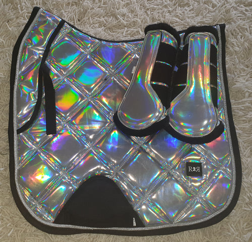 CLEARANCE SALE! Saddle Pad Set with Boots HOLO DRESSAGE Size Full