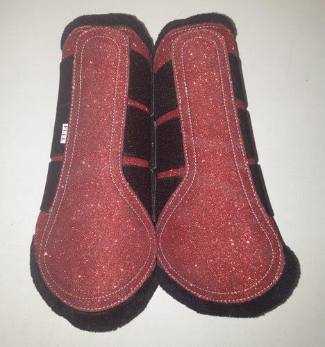 CLEARANCE PRICE! Brushing Boots RED GLITTER SIZE FULL