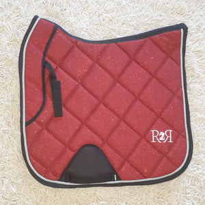 CLEARANCE SALE! DRESSAGE Saddle Pad GLITTER RED