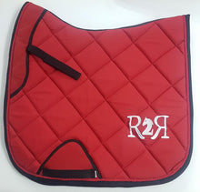 Load image into Gallery viewer, DRESSAGE Saddle Pad Set with Boots RED