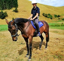 Load image into Gallery viewer, Saddle Pad + Bonnet BLUE