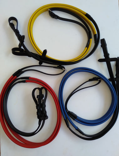 RUBBER GRIP LEATHER REINS
