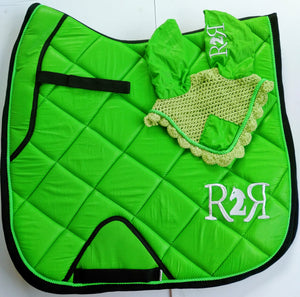 DRESSAGE Saddle Pad LIME GREEN