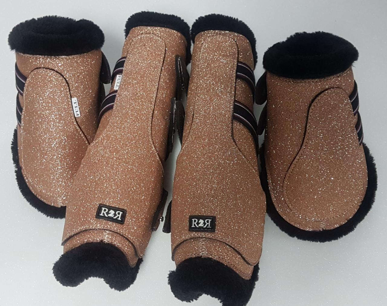 afc8cdd471 Saddle Pad Set with Jump Boots Set SULTAN GOLD GLITTER – Ready To ...