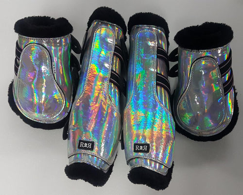 Open Front Boots + Matching Back Boots HOLO