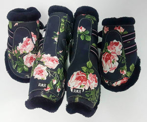 Open Front Boots + Matching Back Boots FLORAL