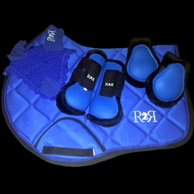 Saddle Pad Set with Boots BLUE
