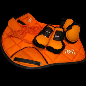 Saddle Pad Set with Boots ORANGE