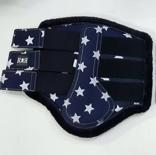 CLEARANCE SALE! Brushing Boots NAVY STARS
