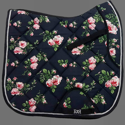 DRESSAGE Saddle Pad FLORAL