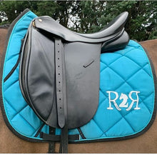 Load image into Gallery viewer, DRESSAGE Saddle Pad Set with Boots TURQUOISE
