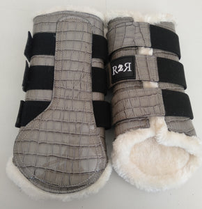 CLEARANCE SALE! Brushing Boots GREY CROC