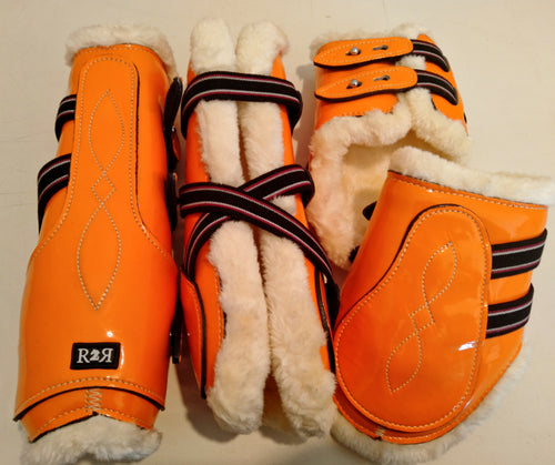 Open Front Boots + Matching Back Boots ORANGE