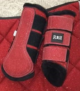 CLEARANCE SALE! Brushing Boots RED GLITTER