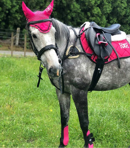 Saddle Pad Set with Boots PINK