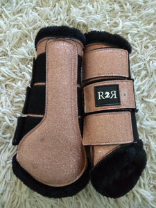 CLEARANCE SALE! Brushing Boots GOLD GLITTER SIZE FULL