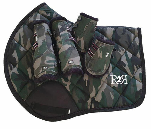 CLEARANCE SALE! Saddle Pad Set with Boots CAMO SIZE FULL