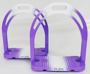 CLEARANCE PRICE! Ombre Stirrups Purple & White