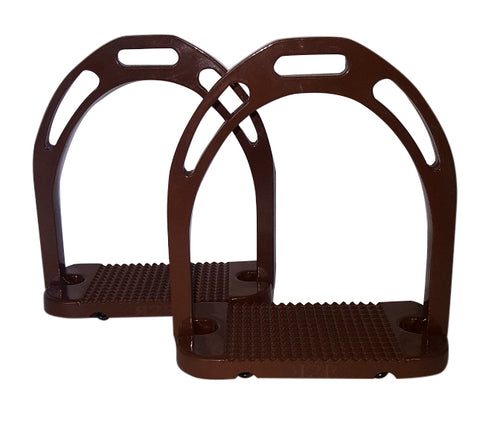 CLEARANCE PRICE! Wide Base Stirrups Brown