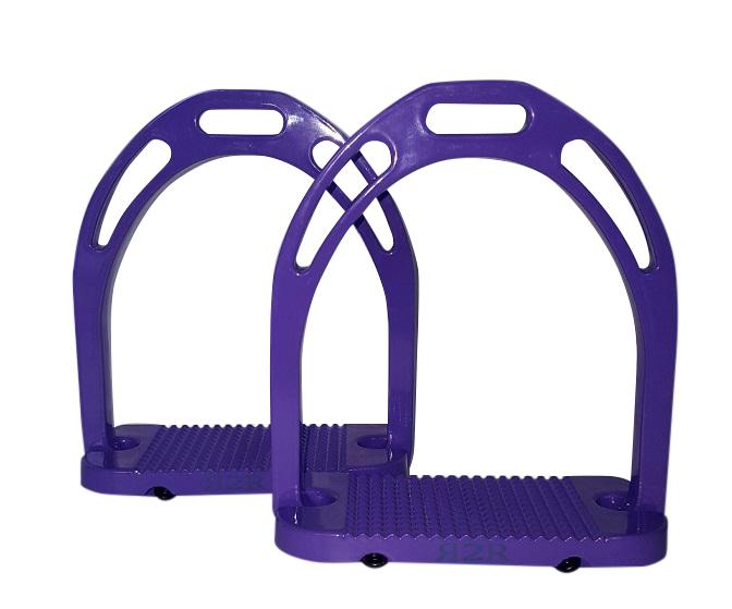 CLEARANCE PRICE! Wide Base Stirrups Purple