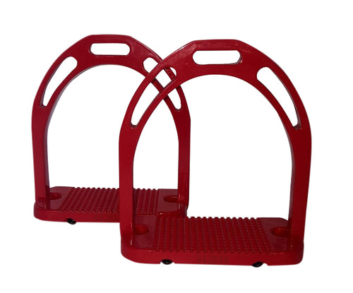 CLEARANCE PRICE! Wide Base Stirrups Red