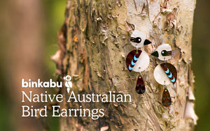 Native Australian Bird Earrings Kookaburra Earrings