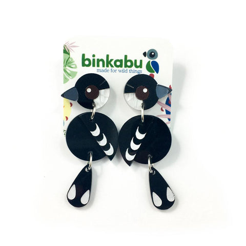 Acrylic Magpie Earrings