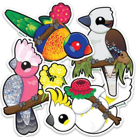 gloss vinyl bird stickers