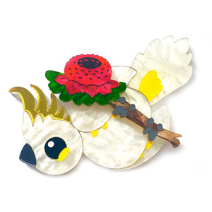 Acrylic Cockatoo Brooch