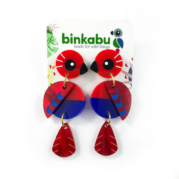 Acrylic Eclectus Earrings
