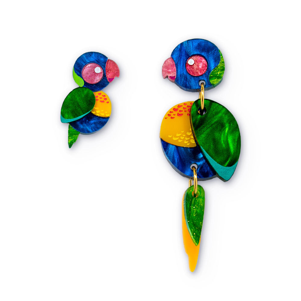 Mismatched Australian Bird Earrings