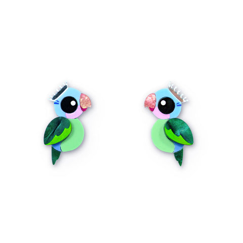 Princess Parrot acrylic stud earrings