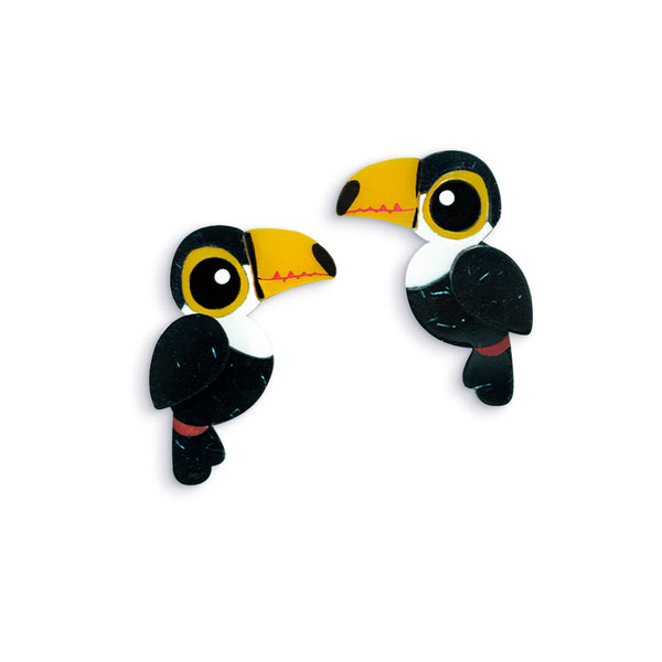Toco Toucan Stud Earrings