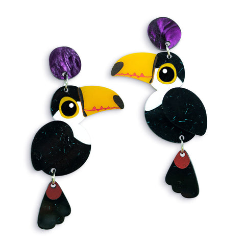 Toco Toucan Dangle Earrings