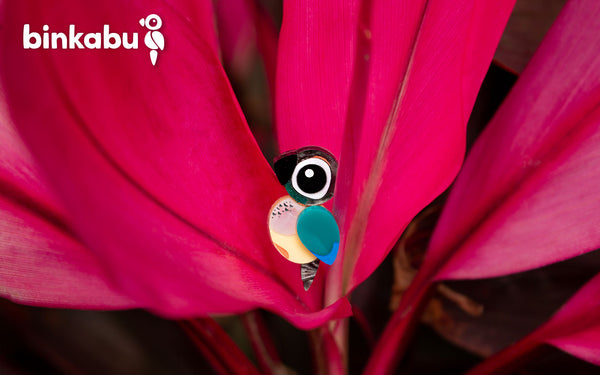 Turquoise Conure Earrings Acrylic Studs