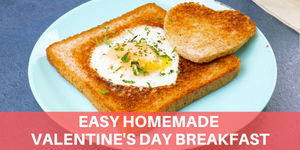 Easy Homemade Valentine's Day Breakfast | Heart-Shaped Toast | HOW TO