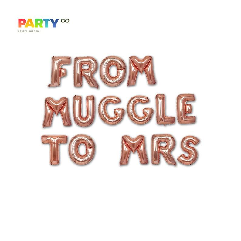 FROM MUGGLE To MRS balloons banner | Bachelorette Party Balloon Decorations| fantasy Bach Party Balloons