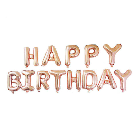 birthday decoration; party supplies; party accessories; birthday party; party balloon; birthday banner; rose gold