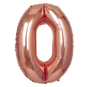 16in Rose Gold Number Balloon (0)