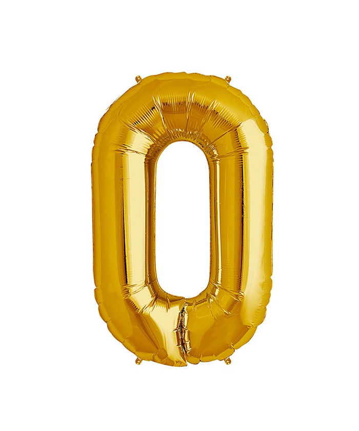 16in Gold Number Balloon (0)