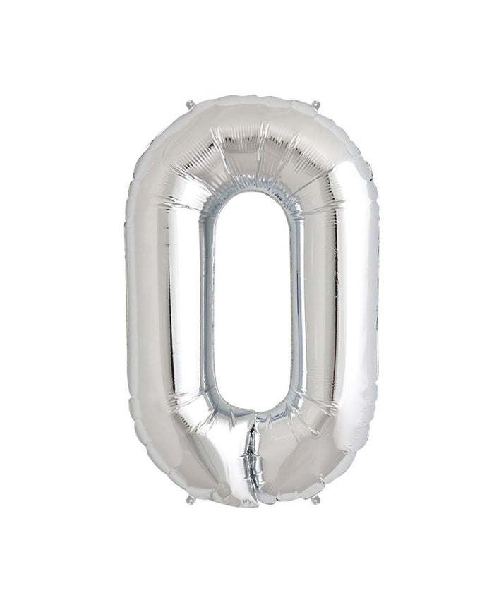 16in Silver Number Balloon (0)