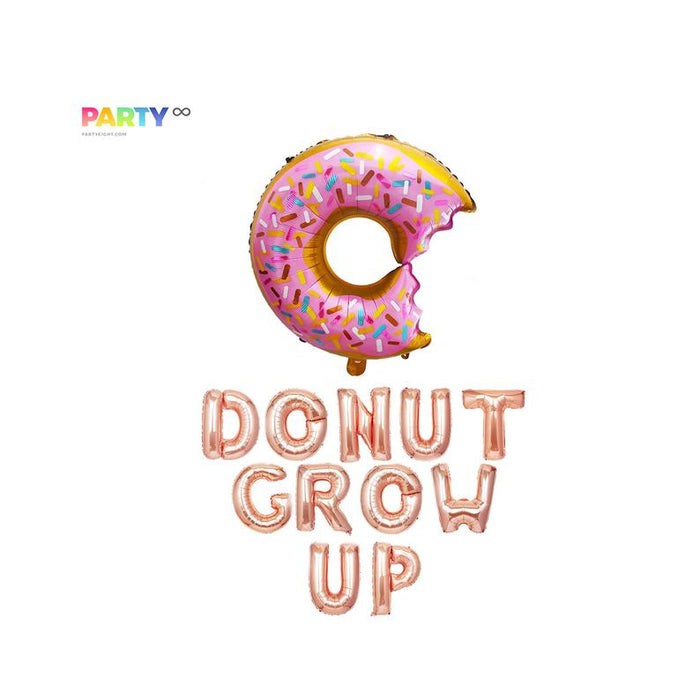 Donut Grow up Balloon Banner