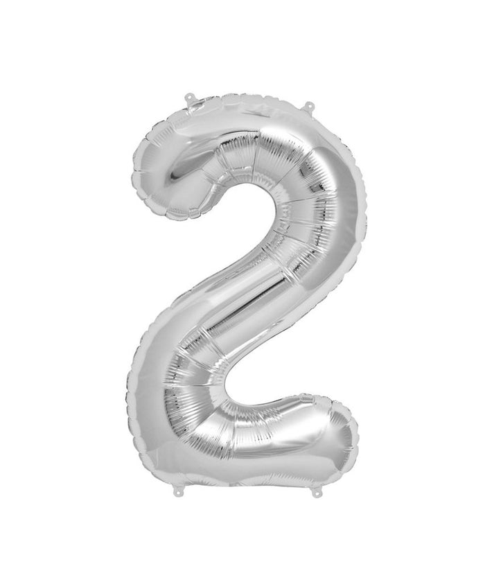 16in Silver Number Balloon (2)